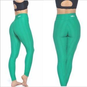 Booty by Brabants Verde Bandeira Textured Leggings